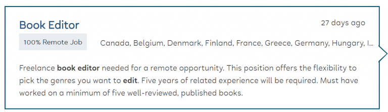 Remote book editor jobs on Flexjobs.