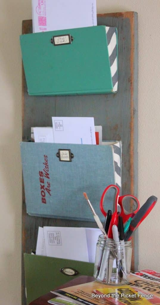 old book wall document organizer