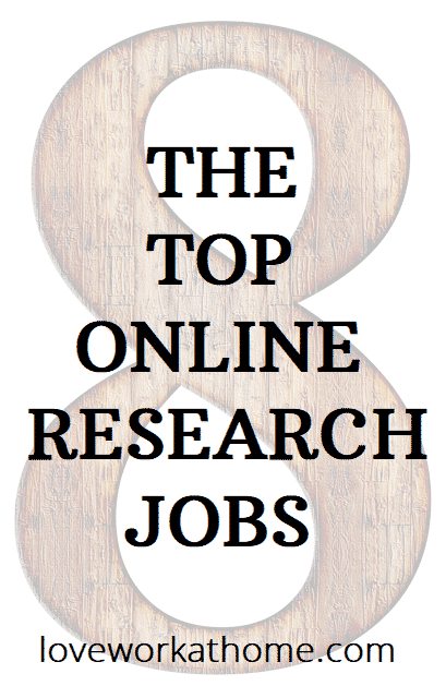 Top Eight online research jobs
