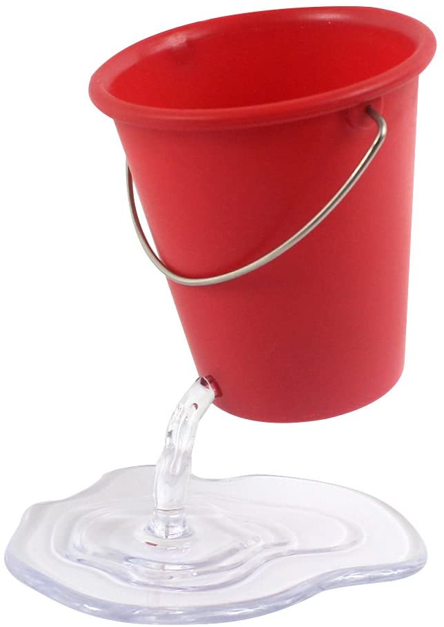 Leaky bucket pencil holder