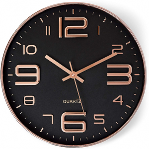 Picture of the black Bernhard wall clock