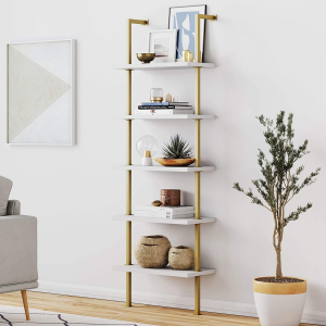 Picture of the 5-shelf ladder bookshelf