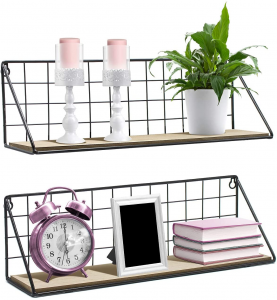 Photograph of 2 floating basket shelves