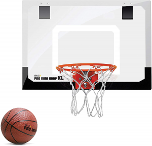 Picture of the mini basketball hoop plus ball