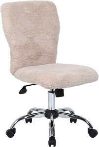 Plush stylish desk chair with no armrests