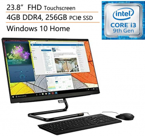 Picture of Lenovo all-in-one with keyboard and mouse