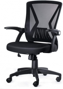Black mid-back desk chair