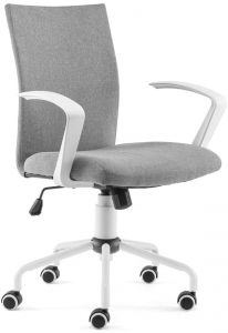 Grey height adjustable office chair