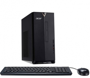Image of black Acer tower with keyboard and mouse