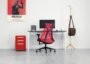Red ergonomic office chair