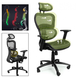 Lime green mesh home office chair