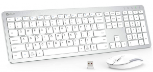 iClever wireless keyboard and mouse in silver