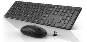 Black Wisfox ergonomic keyboard and mouse combo
