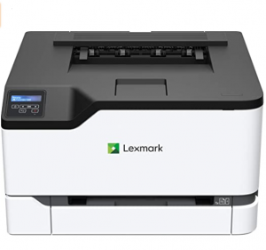 Lexmark printer in black and white.