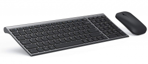 Black Seenda rechargeable wireless keyboard and mouse