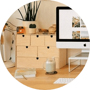 Bamboo home office desk organizers