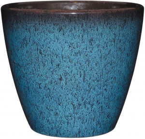 Indigo ceramic planter