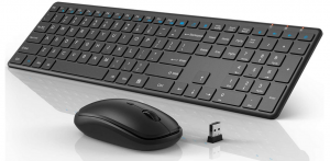 Black Wisfox wireless keyboard and mouse for business