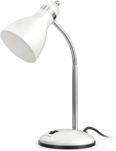 White adjustable desk lamp