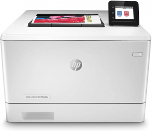 HP printer with touchscreen