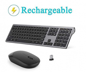 Rechargeable Lekvey wireless keyboard and mouse.