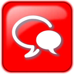 Live chat icon in red