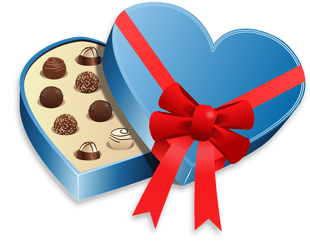 Packaging design for a box of chocolates