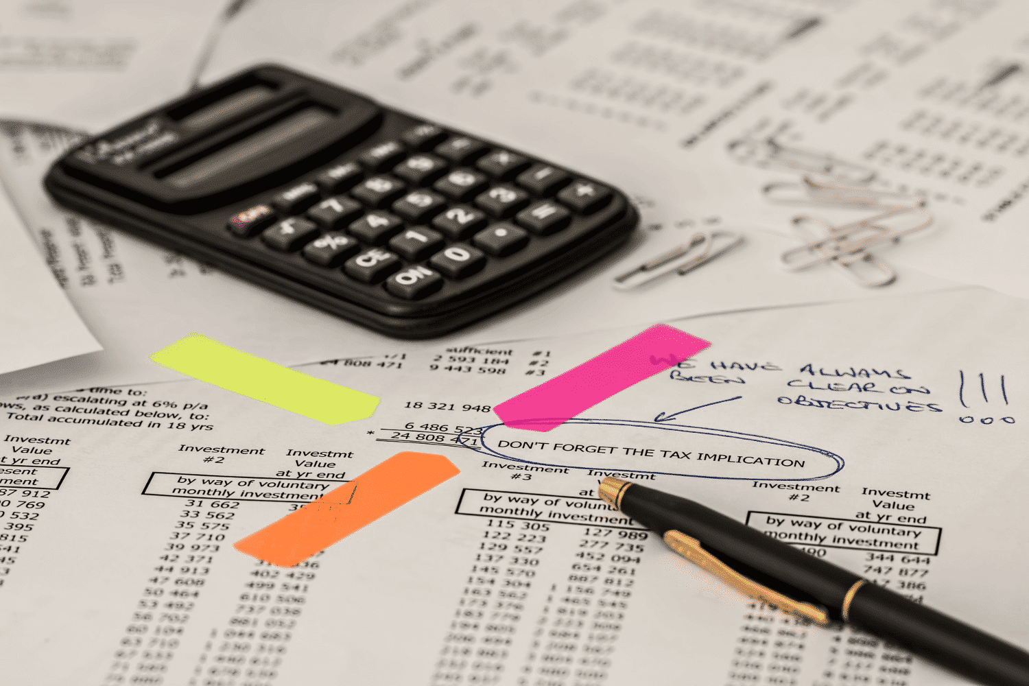Bookkeeping - calculations with a calculator