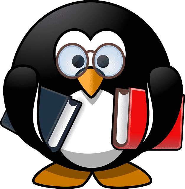Penguin in a tux learning