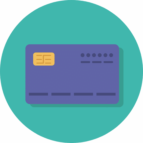 Set up a business bank account - vector representing a bank card.