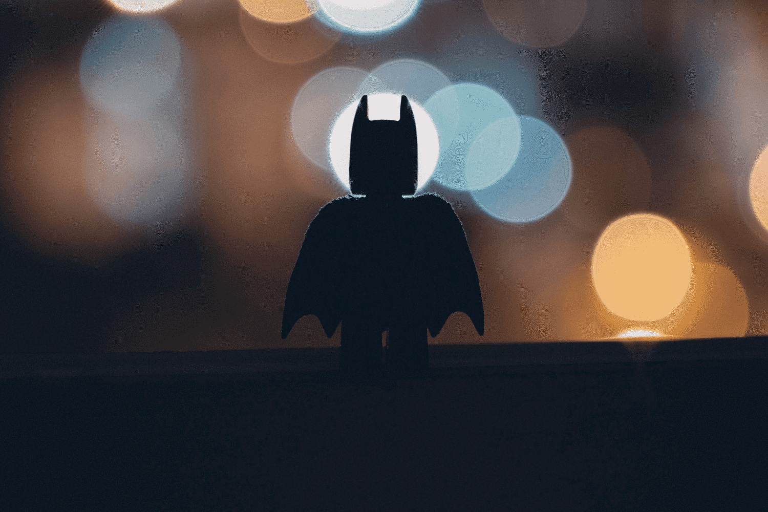 A silhouette of Lego Batman - consultants are like hero's that get dropped in to solve problems