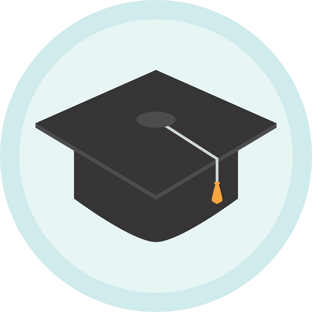 Icon to symbolise a degree or qualification in bookkeeping