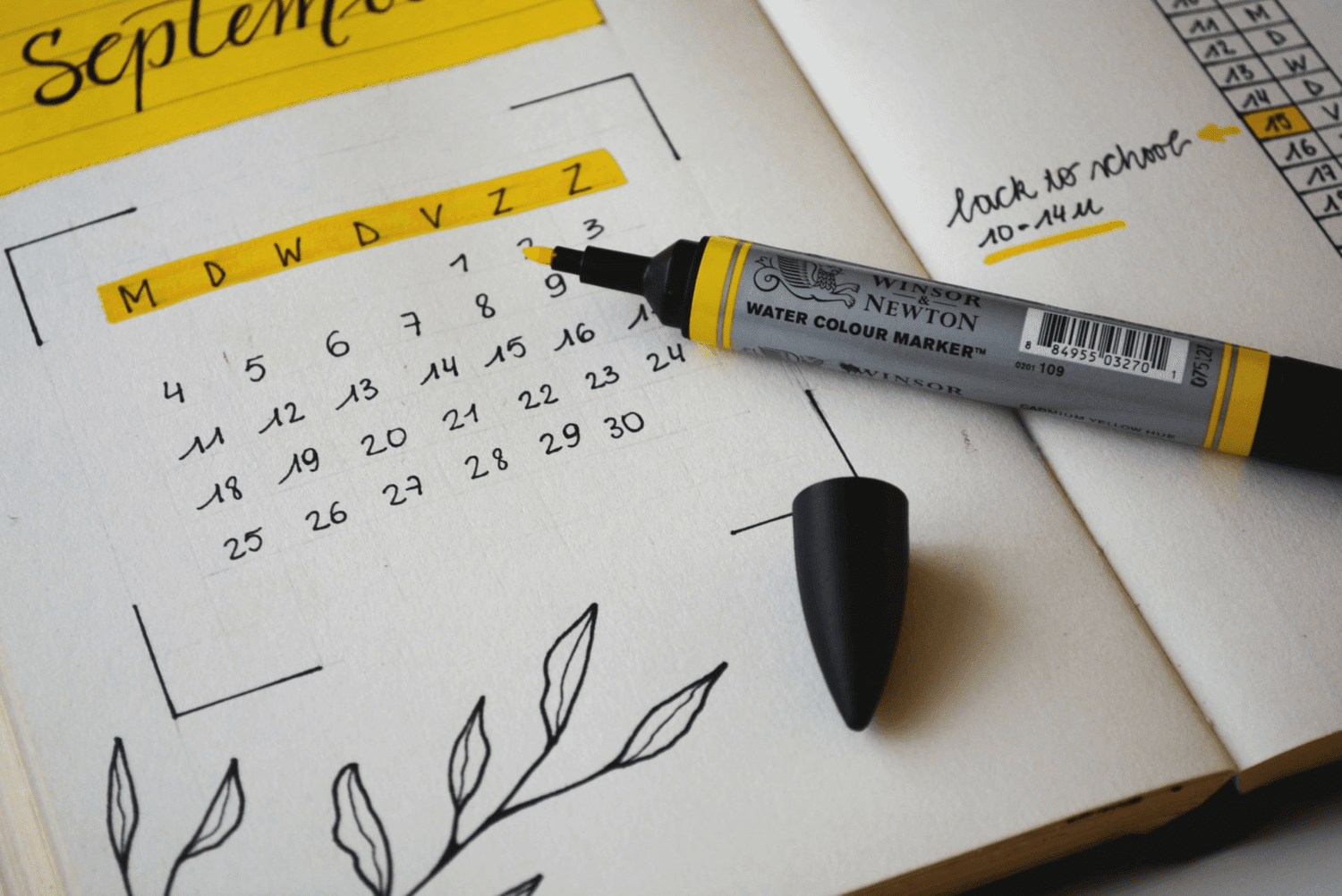 Calendar showing setting up your freelance schedule