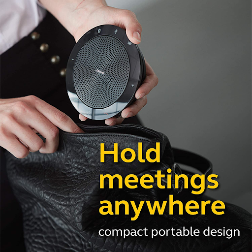 The Jabra Speak 510 is compact and portable