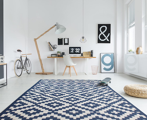 A home office rug for a comfy office space