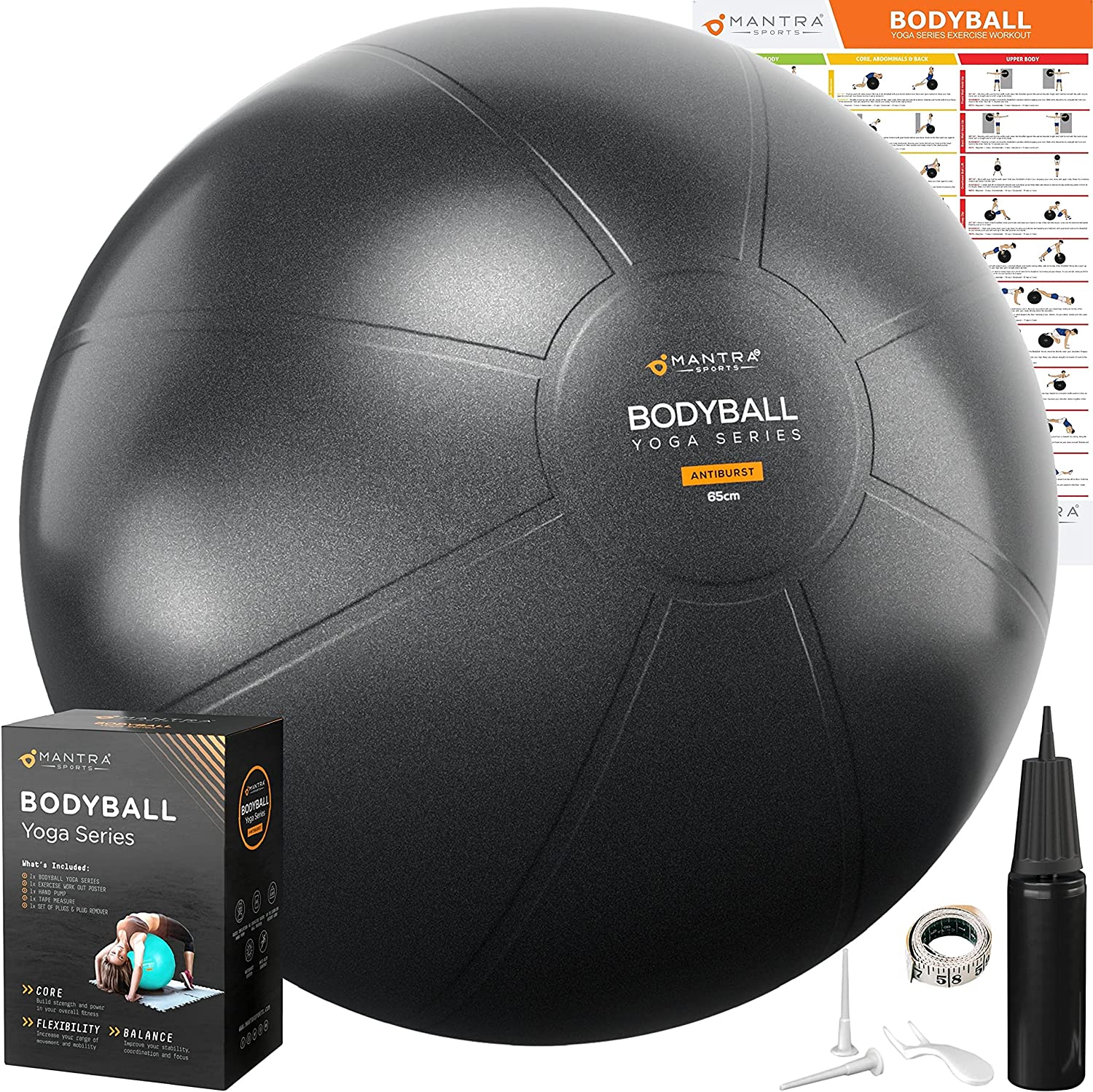 Improve your posture in your home office with a yoga ball chair