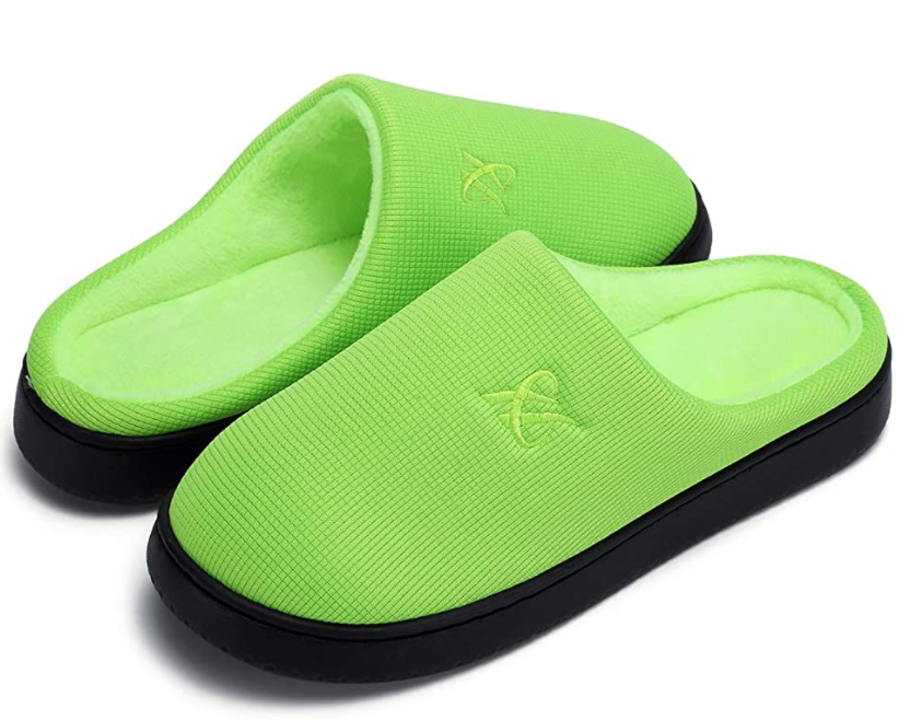 Memory foam slippers make a comfy gift for home office