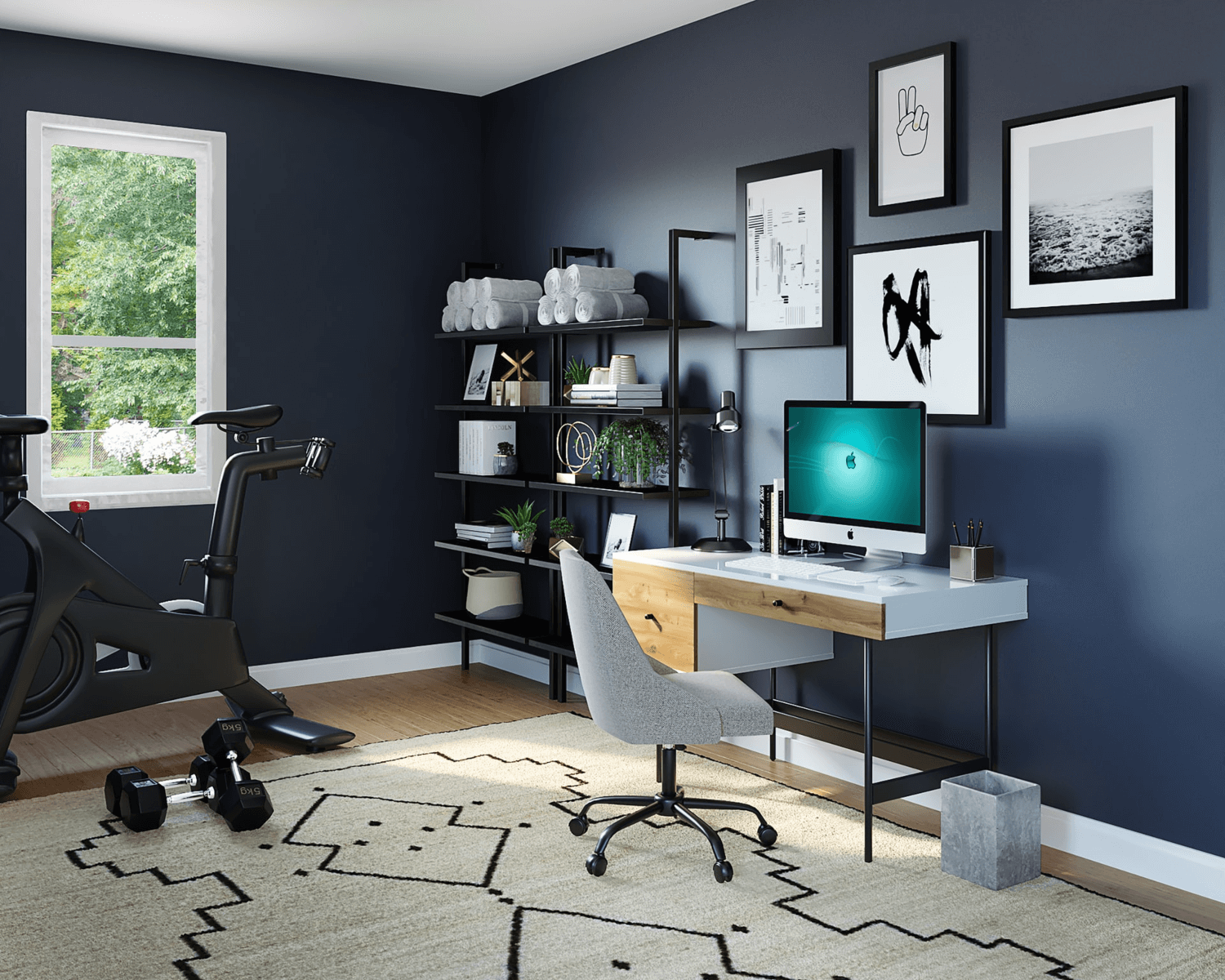 A home office designed for freelance success