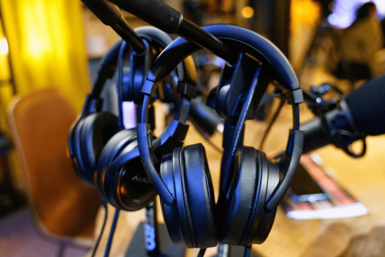 What has replaced blogging? Headphones to represent the popularity of podcasts.