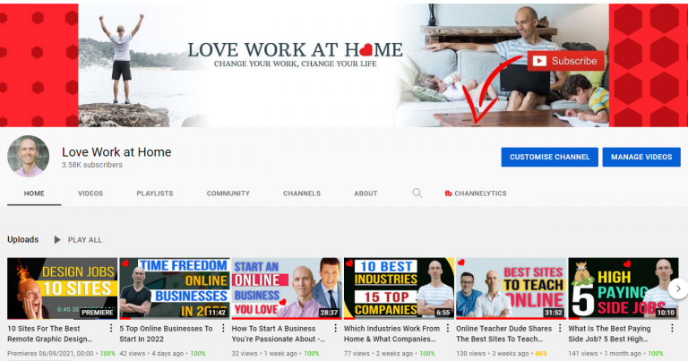 youtube as a career our channel