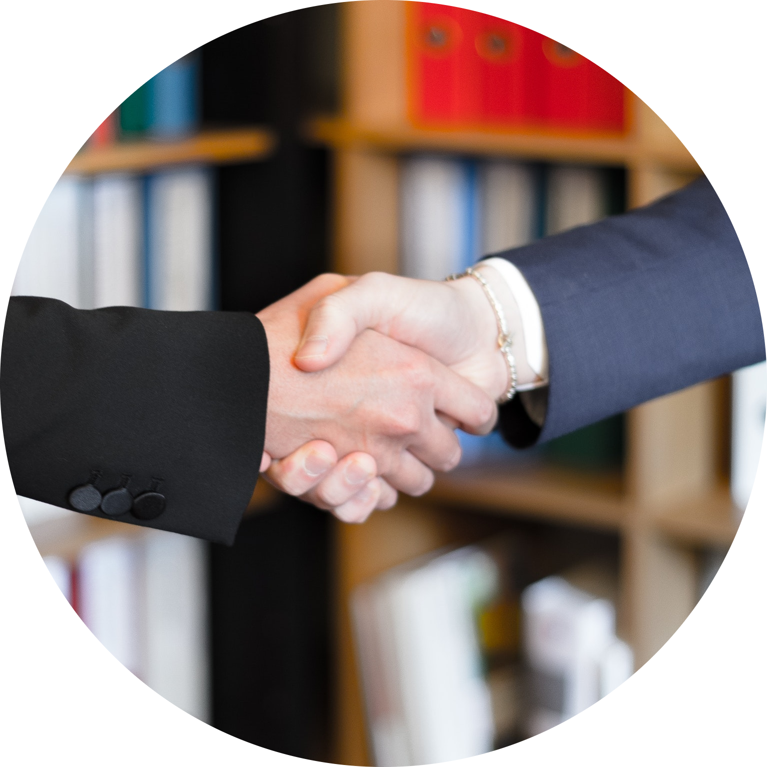 A handshake to represent a back link