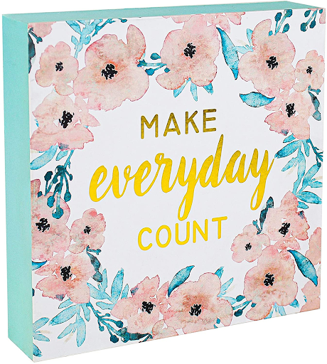 Make every day count inspirational quote