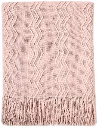 Dusty pink throw