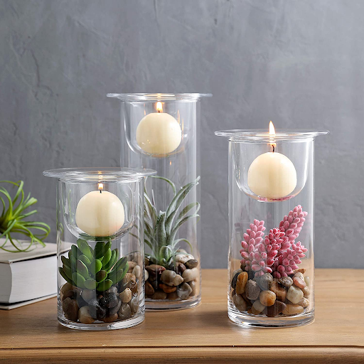 Home office desk decor - decorative candle holders
