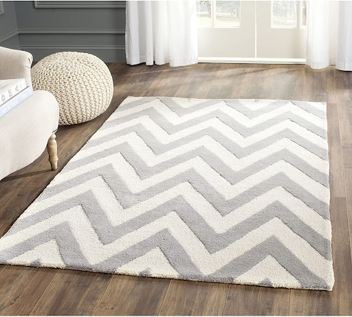 Handmade chevron rug for your home office