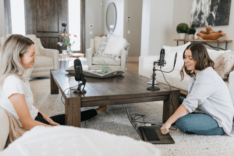 Podcasting allows you to work from home
