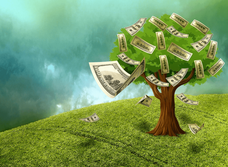 How do podcasts make money? A money tree to illustrate.