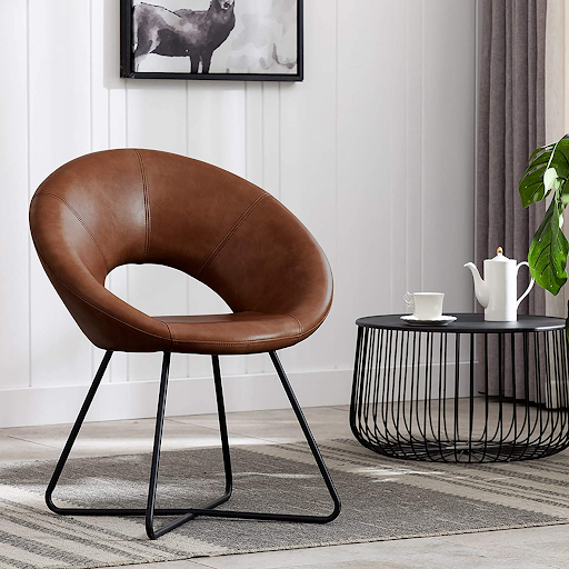 Elegant and comfy leather desk chair for home office